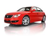 Red Sedan Car