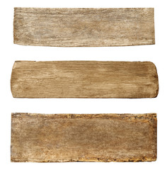 Three Kinds of Wood with Different Texture