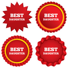 Best daughter sign icon. Award symbol.