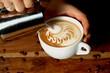 canvas print picture - Latte Art Motiv