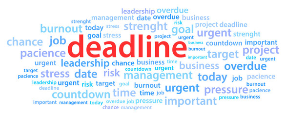 Deadline Word Cloud Vector Illustration