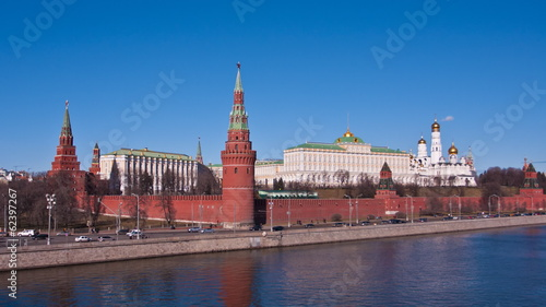 Russia, Moscow, view to the Moscow Kremlin and the river