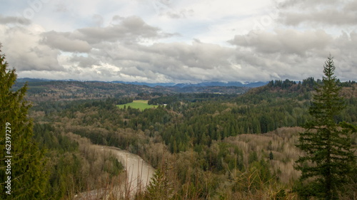 Sandy River Basin Landscape Clouds and Sky Time Lapse in Oregon