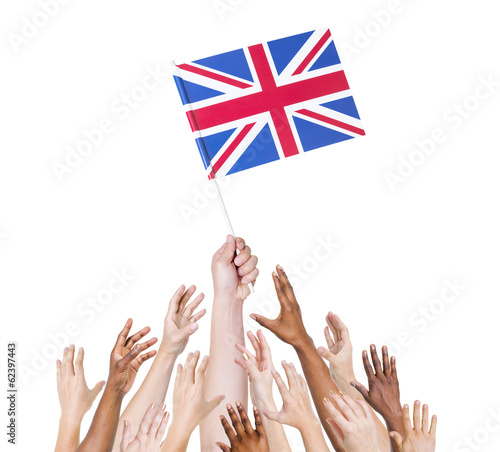 Human Hand Holding Great Britain Flag