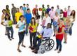 Large Group of Multiethnic World Students