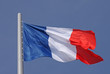 flag of France over blue sky