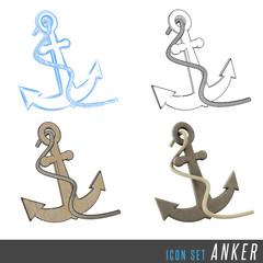 3D Iconset Anker