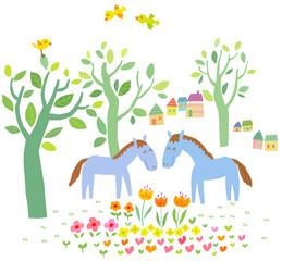 봄꽃, 말