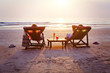 Leinwanddruck Bild - relax on the beach