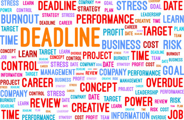 Deadline Word Concept Vector Illustration