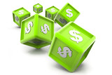 Dollar currency cubes