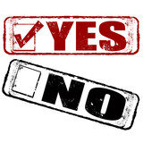 yes no stamp