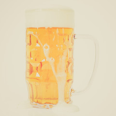 Retro look German beer glass