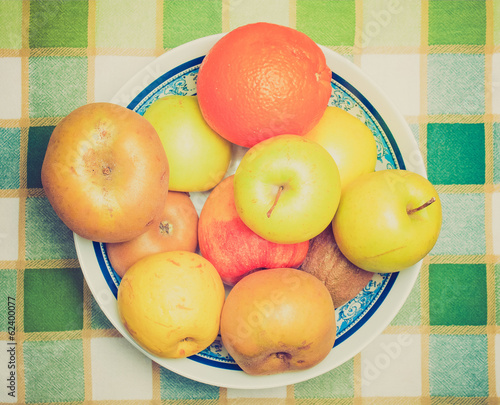 Retro look Fruits