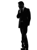 effeminate snobbish business man silhouette