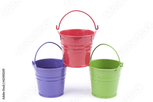 Bucket on a white background.