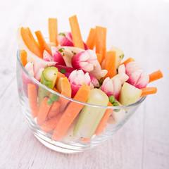 vegetables sticks