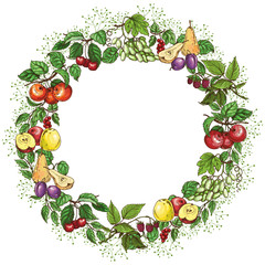 Round fruit frame