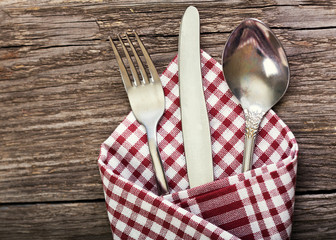 silver fork, knife and spoon as utensils