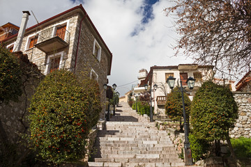 Stair Alley In Arachova, Greece