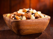 bowl of mix nuts and dried fruits