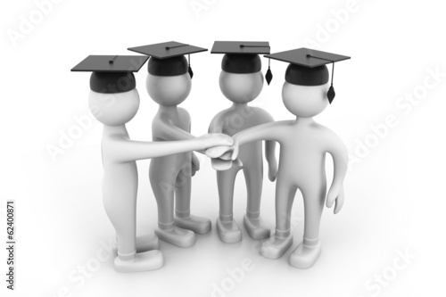 Graduating Students Hands together
