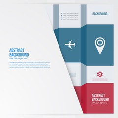 Vector  infographics. Abstract background card lines