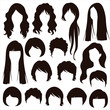 hair silhouettes, woman hairstyle - 62401474