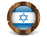 Israel wood button