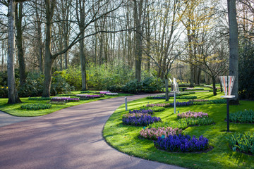 Famous flowers park Keukenhof in Netherlands also known as the G