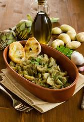 Stufato di carciofi e patate, Cucina Sarda