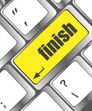 finish button on internet computer keyboard
