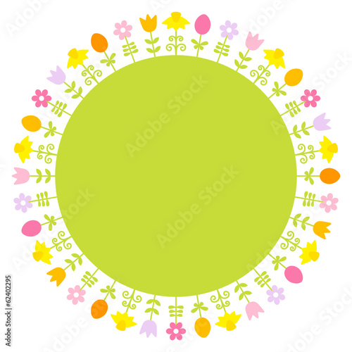 Easter Card Meadow Flowers Frame