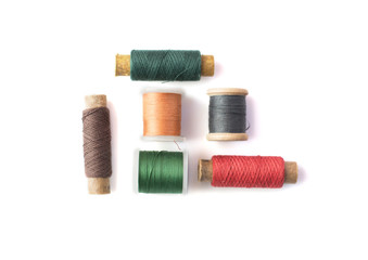 isolated spindles with threads