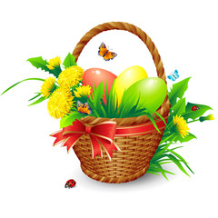 Easter vector background