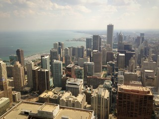 View over Chicago - Hancock Tower