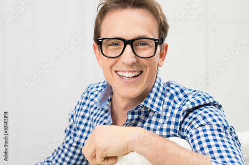 Young Man Wearing Eyeglasses