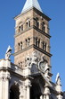 Belfry of Saint Mary Major Basilica in Rome, Italy