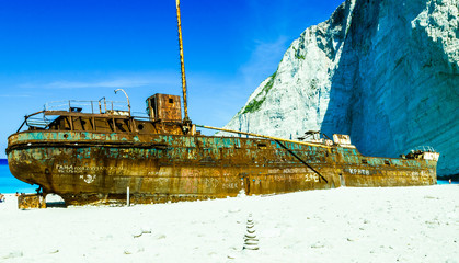 Shipwreck in Greece