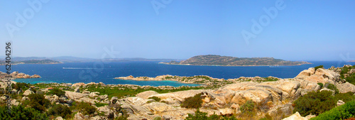 Panoramic view of Maddalena Island (Sardinia) - Italy