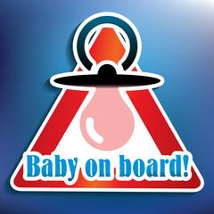 Baby on board sticker