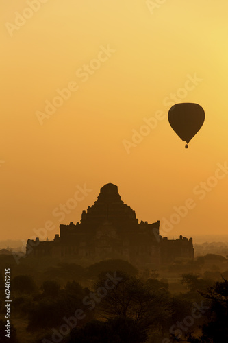 Sunrise Silhouette of Dhammayangyi Temple in Bagan, Myanmar