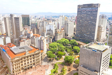 The central part of Sao Paulo, Brazil