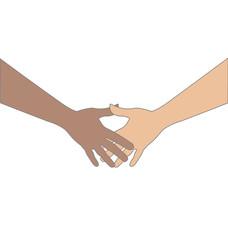 Hands holding logo vector
