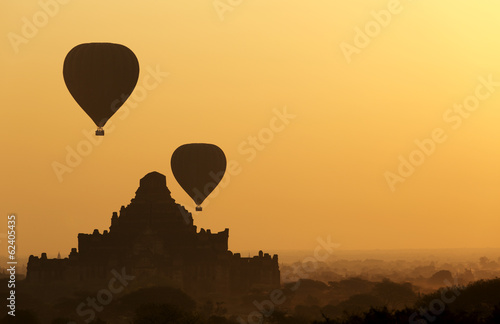 Silhouette of Dhammayangyi The biggest Temple in Bagan, Myanmar
