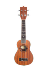 Studio shot of ukulele guitar