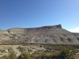 Steep hill, desert in Wyoming