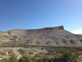 Steep hill, desert in Wyoming