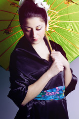Portrait of geisha woman
