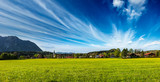 German countryside and village panorama. Germany